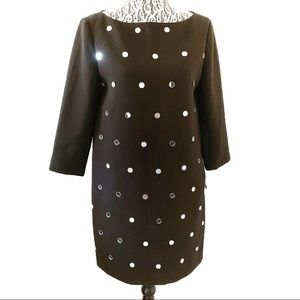 Kate Spade mirrored long sleeve sheath dress sz 4